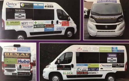 Keramika sponsort het busje van Humival