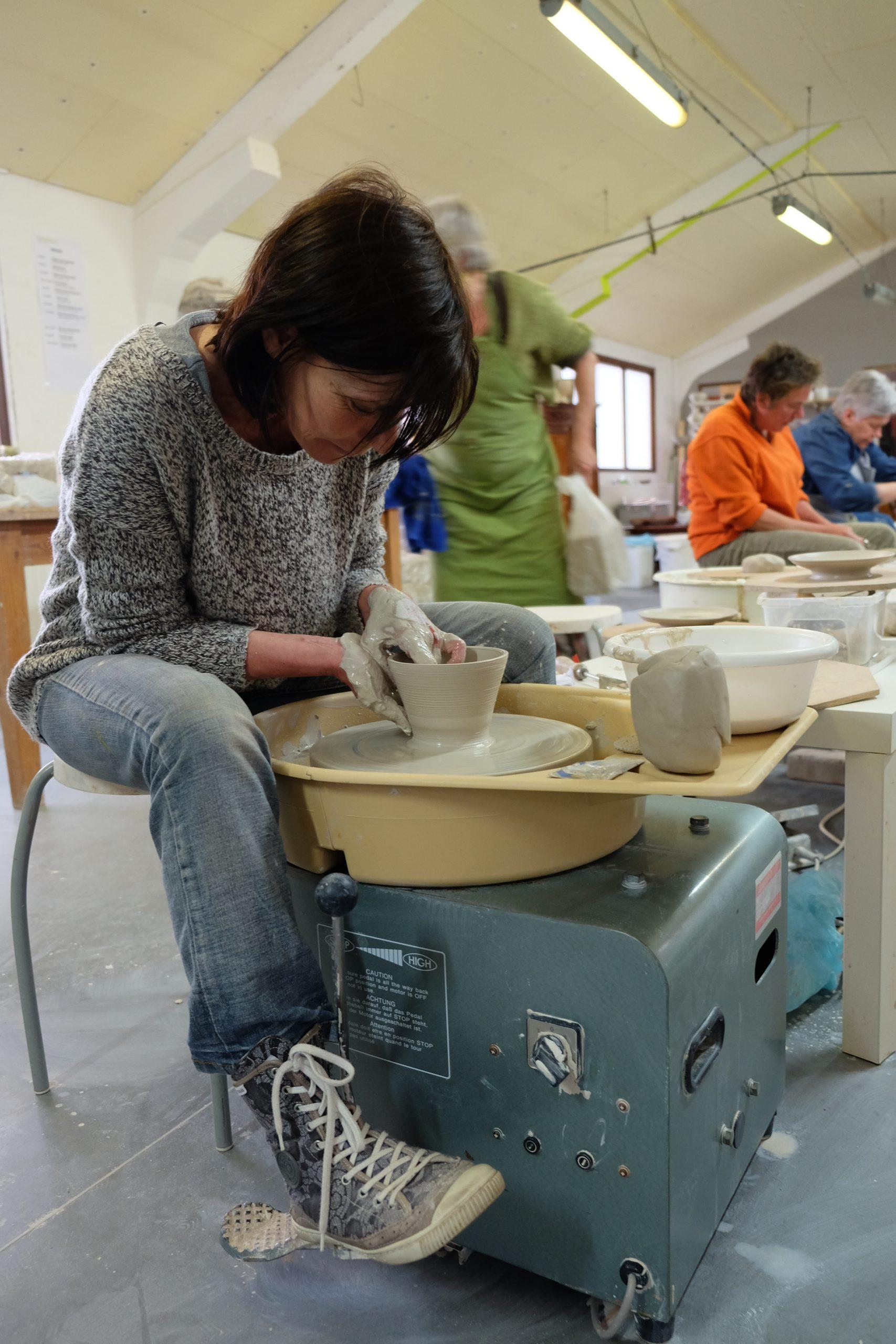Keramika keramieklessen - pottendraaien